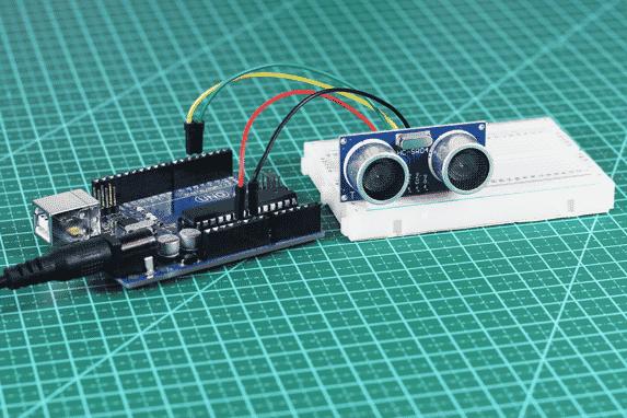 Conexão sensor ultrassônico HC-SR04 ao Arduino