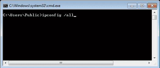 Prompt de comando - Ipconfig