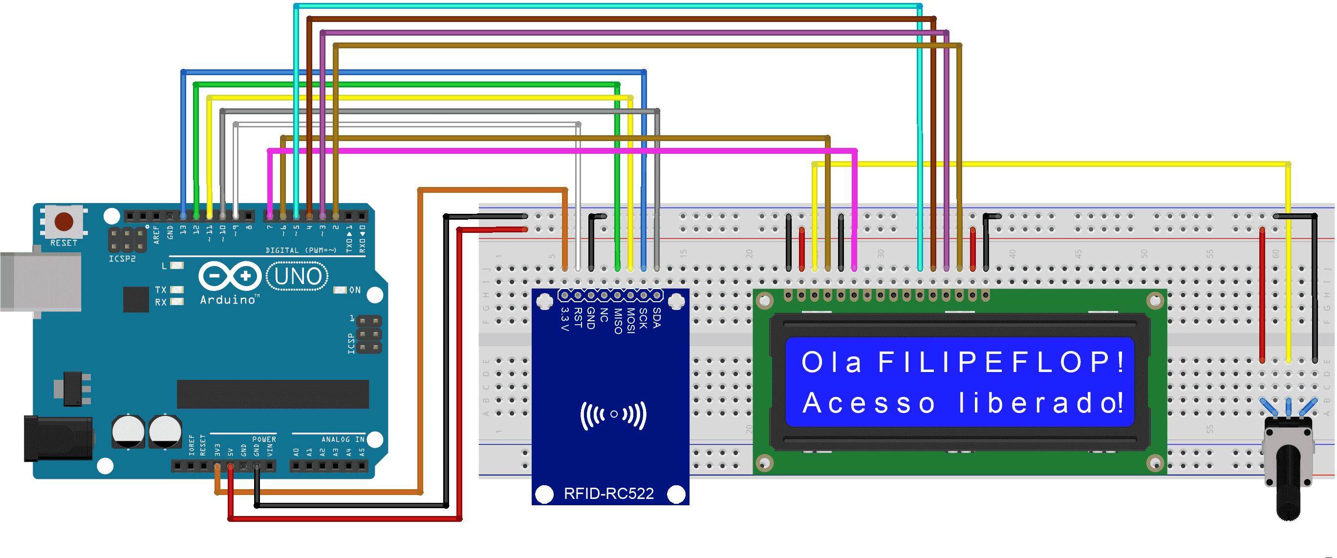 Circuito RFID - LCD 16x2