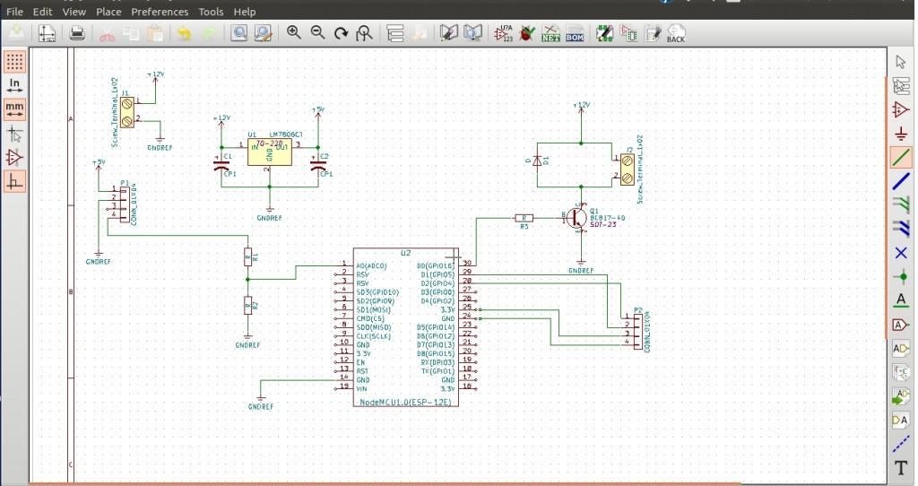 PCB Circuito esquemático com Power Ports