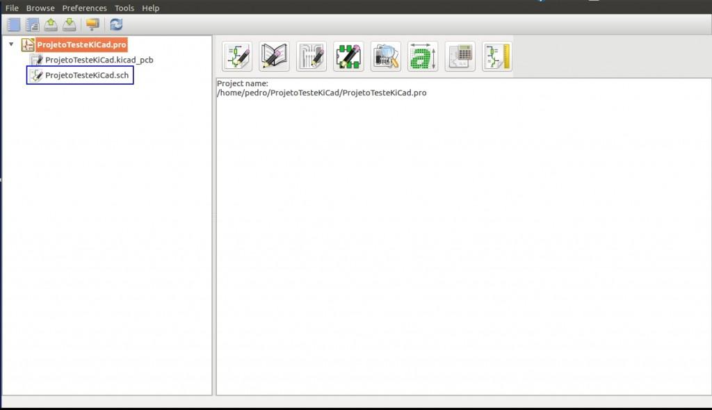 Criação de um projeto no software KiCad