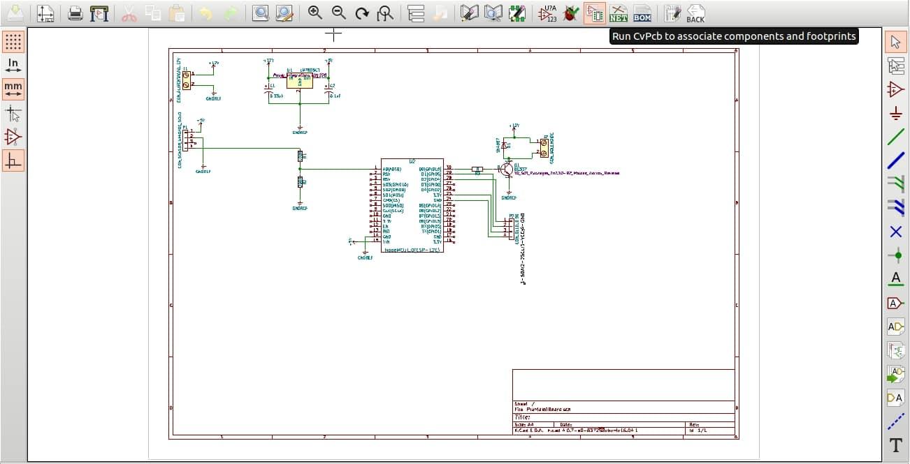 Atalho para associação entre componentes eletrônicos e seus Footprints