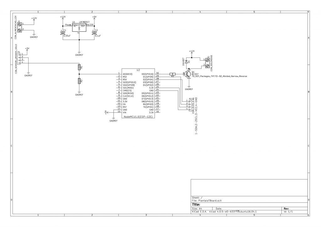 Circuito esquemático - PlantaIoT Board