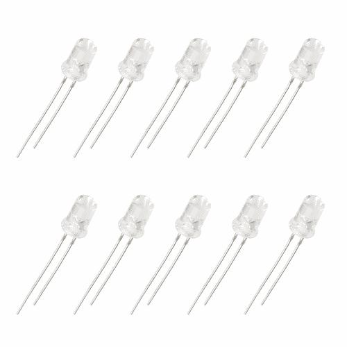 LED Difuso 5mm Branco x10 Unidades