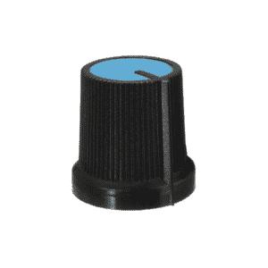 Knob para Potenciômetro Estriado 6mm