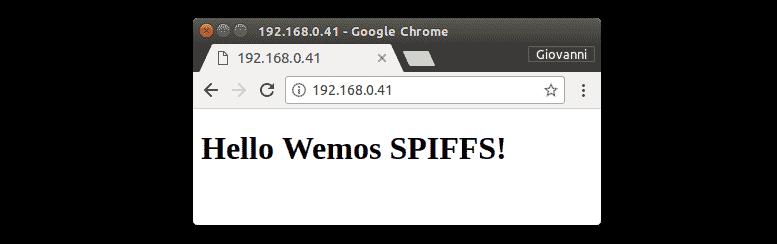 HTML Wemos